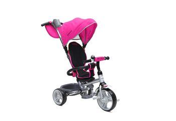 BYOX FLEXY szülőkormányos tricikli Pink, Összecsukható vázzal