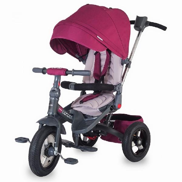 COCCOLLE CORSO PINK szülőkormányos tricikli   Forgatható, dönthető üléspozícióval