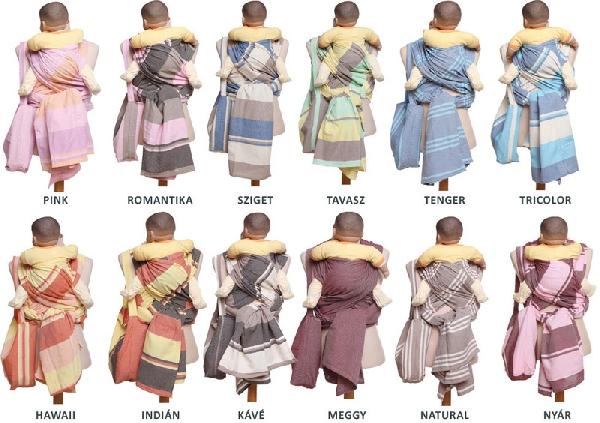 Nandu klasszikus hordozókendő L -es -TAVASZ