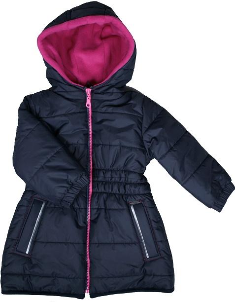 MIKKA Lány téli kabát-sötétkék 122, 128