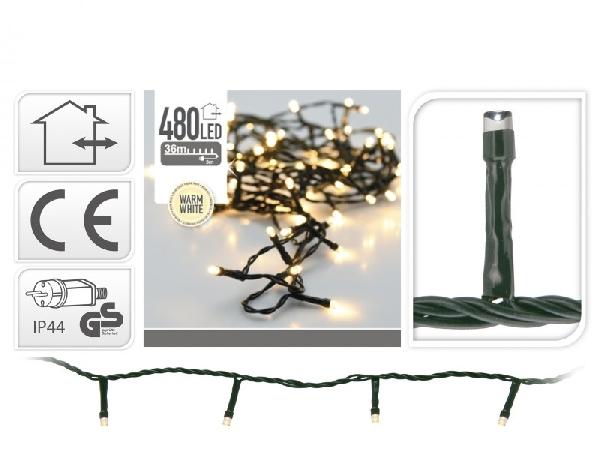 480 LEDes extra melegfehér égősor kül- és beltéri használatra
