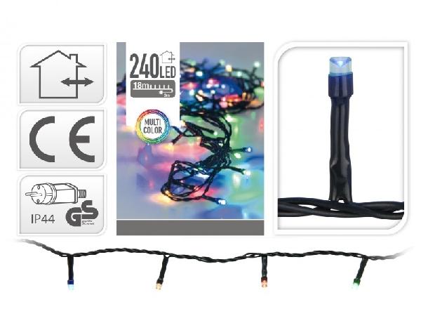 240 LEDes extra szines égősor kül- és beltéri használatra 19 méter