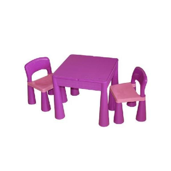 Tega Baby Mamut szett, asztal + 2 db szék lila