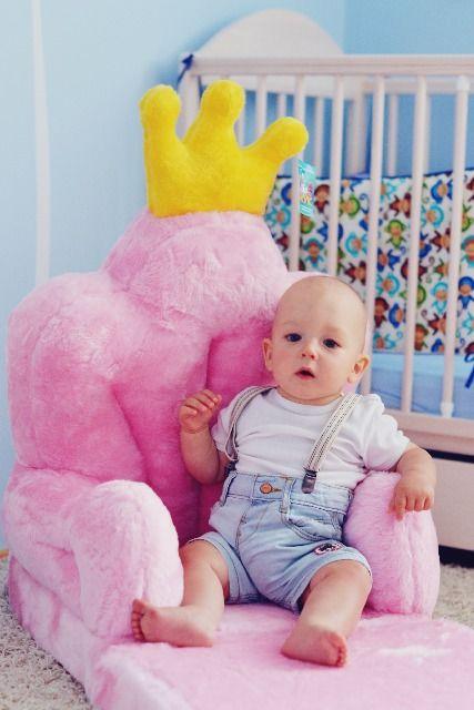Baby kinyitható figurás fotel hercegnő