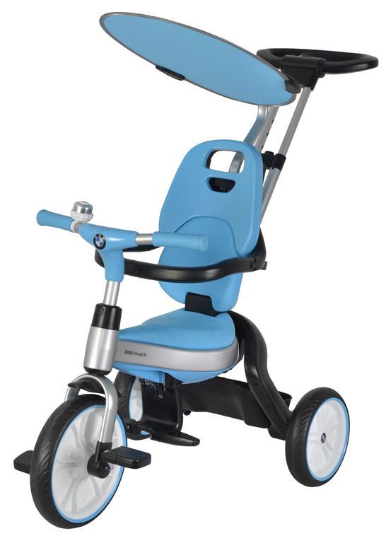 BMW összecsukható szülőkormányos tricikli blue