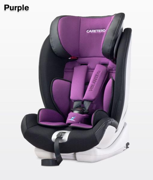 CARETERO VOLANTE FIX ISOFIX 9-36 KG dönthető autósülés Purple