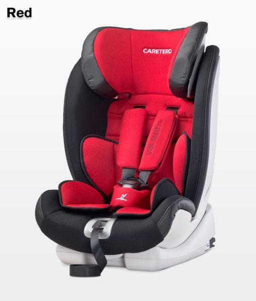 CARETERO VOLANTE FIX ISOFIX 9-36 KG dönthető autósülés Red