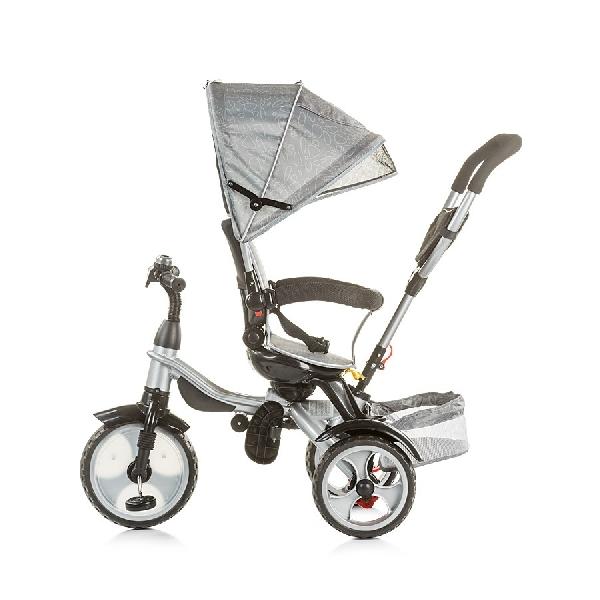 Chipolino Rapido szülőkormányos tricikli kupolával - Ash