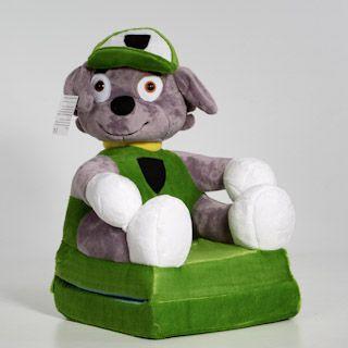 Kinyitható figurás gyerek fotel mancs őrjárat zöld
