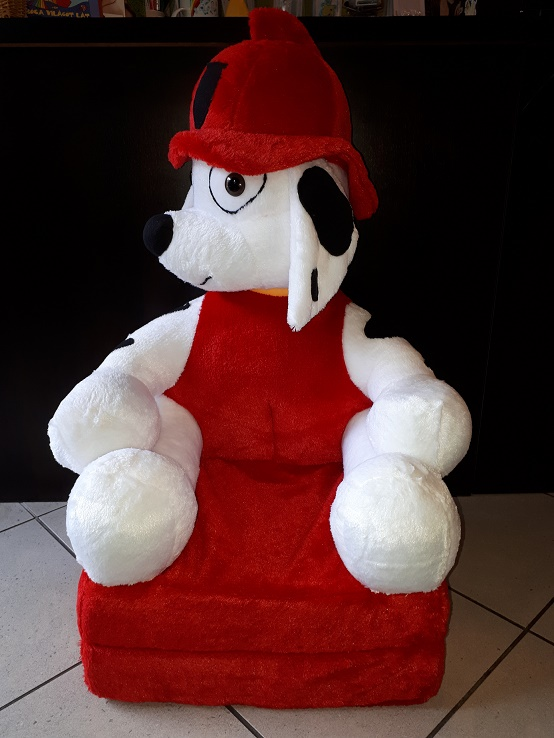 Kinyitható figurás gyerek fotel mancs őrjárat piros