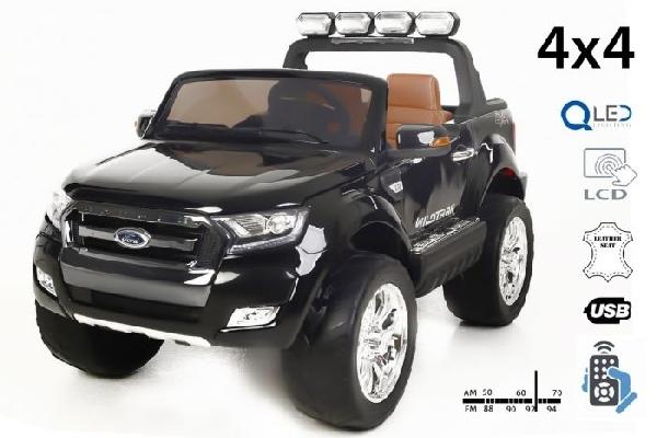 FORD RANGER Wildtrak Luxury 2 személyes Elektromos kisautó 4x4, 2x12 volt, piros, bőr ülés, indítókulcs, LCD kijelző,