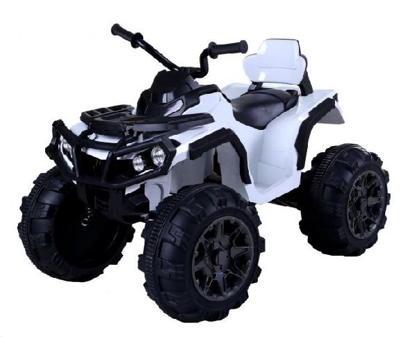 ZERO 12V elektromos quad, fehér, puha EVA kerekek, 2,4 GHz távirányító, műbőr ülés, lengéscsillapított, 12V7Ah akkumulátor