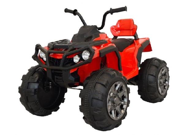 ZERO 12V elektromos quad, piros , puha EVA kerekek, 2,4 GHz távirányító, műbőr ülés, lengéscsillapított, 12V7Ah akkumulátor