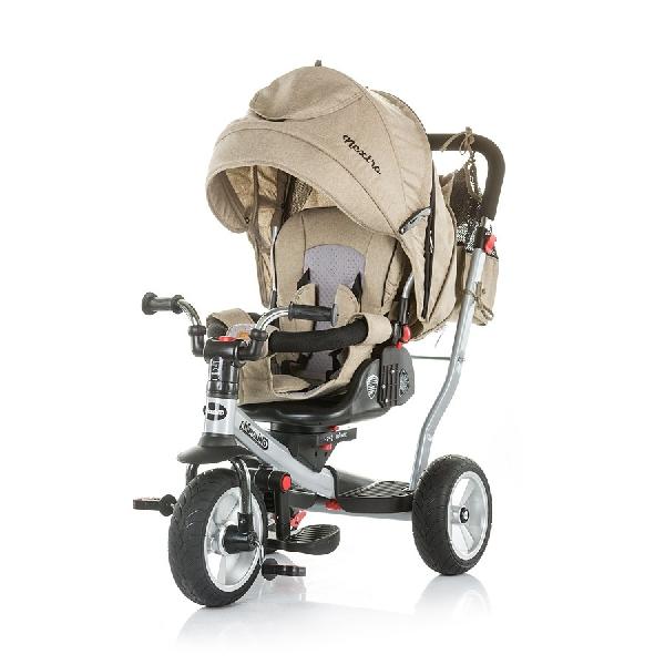 CHIPOLINO NEXTRO FRAPPE TRICIKLI  dönthető és forgatható üléspozícióval, gumi kerékkel