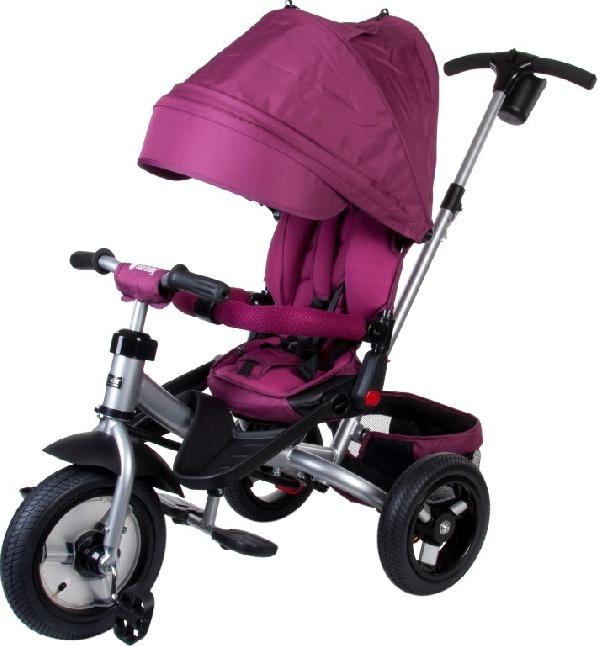 LITTLE TIGER T400 szülőkormányos tricikli Violet  Forgatható, dönthető üléspozícióval