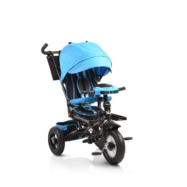 Byox Jockey 2018 blue szülőkormányos tricikli Forgatható, dönthető üléspozícióval, pumpás gumi kerékkel