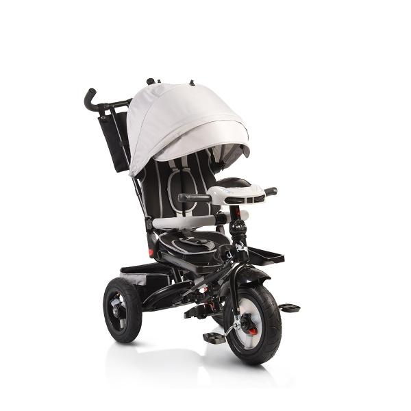 Byox Jockey 2018 silver szülőkormányos tricikli Forgatható, dönthető üléspozícióval, pumpás gumi kerékkel