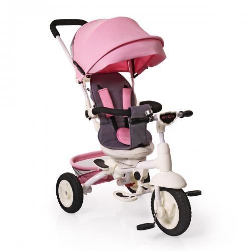 Byox Queen szülőkormányos tricikli Pink Forgatható bf430f38b8