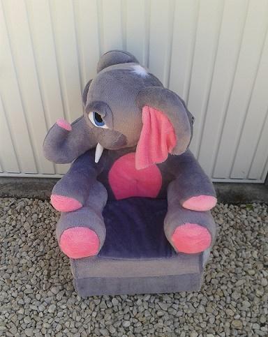 Kinyitható figurás gyerek fotel Elefánt