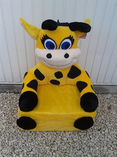 Kinyitható figurás gyerek fotel zsiráf