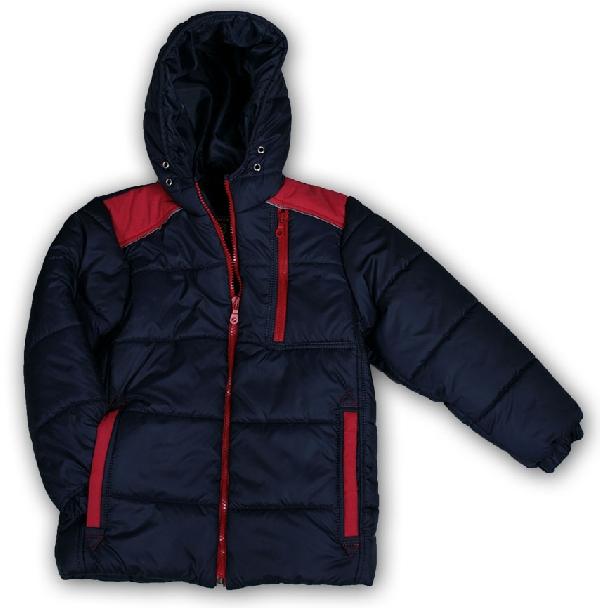Mikka fiú téli kabát kék 140-es méretben