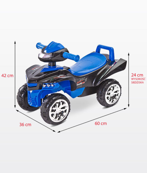 TOYZ MINIRAPTOR Quad bébitaxi és járássegítő Blue
