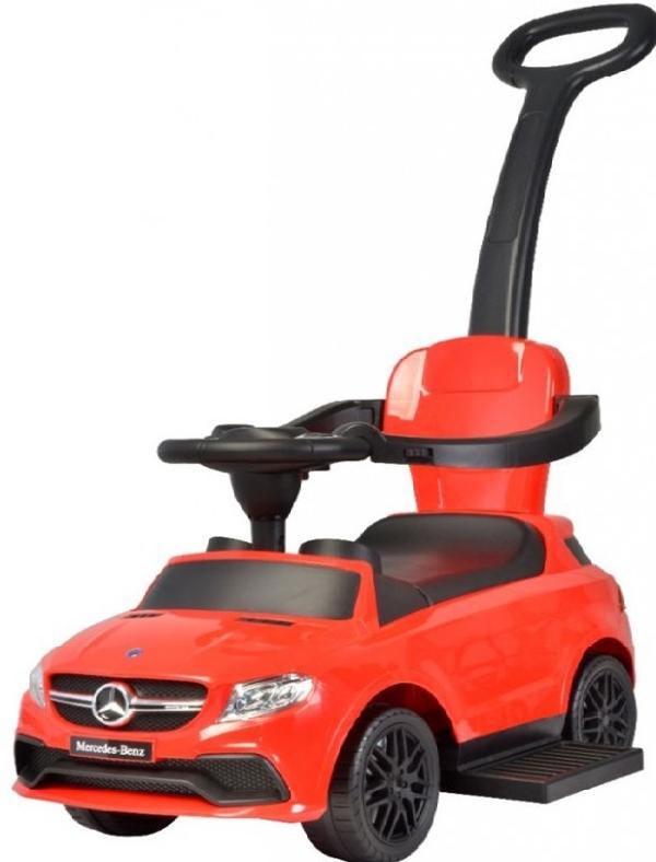 Mercedes tolókaros bébitaxi piros