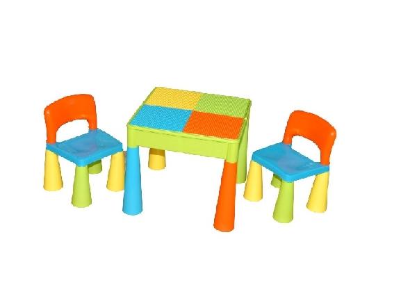 Tega Baby Mamut szett, asztal + 2 db szék multicolor