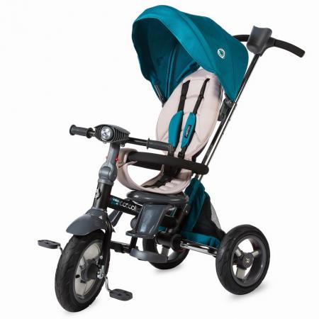 COCCOLLE VELO AIR  4in1 szülőkormányos tricikli VERDE, Összecsukható váz ,  Forgatható ülés, 2019
