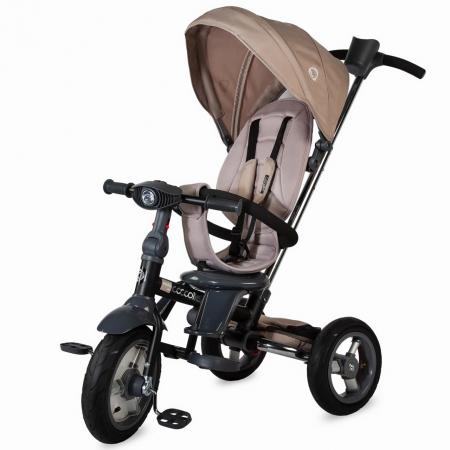 COCCOLLE VELO AIR 4in1 Összecsukható tricikli BEIGE, Összecsukható váz ,  Forgatható ülés, 2019