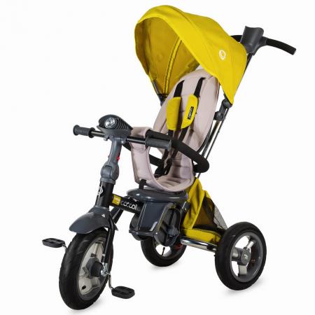 COCCOLLE VELO AIR  4in1 szülőkormányos tricikli MUSTAR, Összecsukható váz ,  Forgatható ülés, 2019