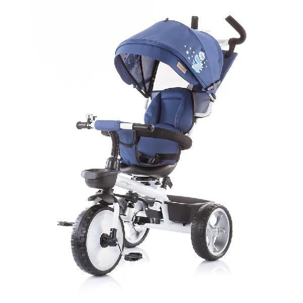 Chipolino Tempo  szülőkormányos tricikli Megfordítható  üléssel 2019 Marine Blue