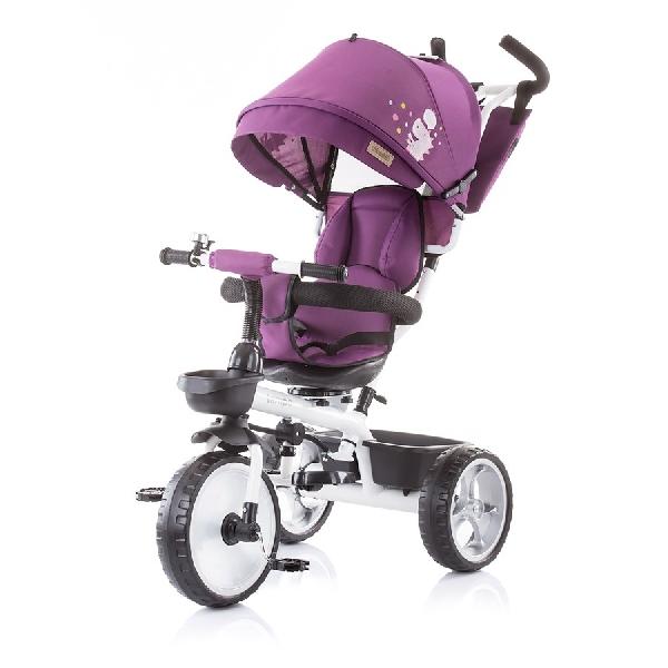Chipolino Tempo  szülőkormányos tricikli Megfordítható  üléssel 2019 Amethyst