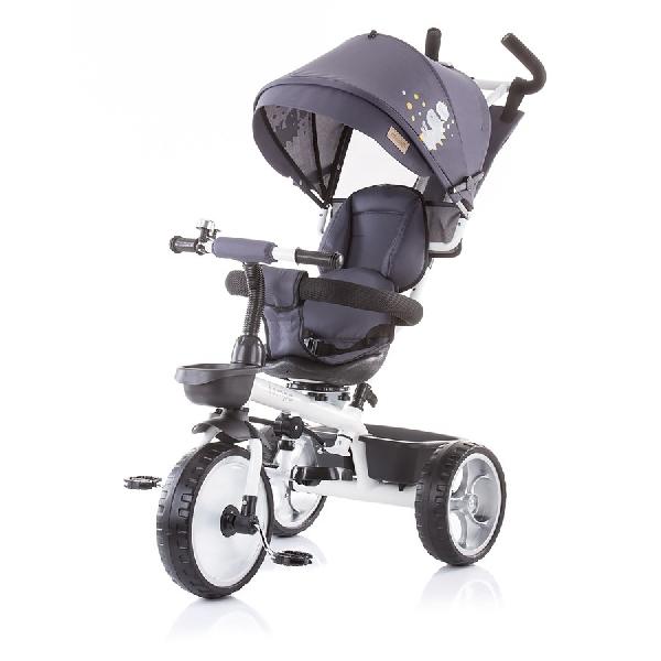 Chipolino Tempo  szülőkormányos tricikli Megfordítható  üléssel 2019 Granite Grey