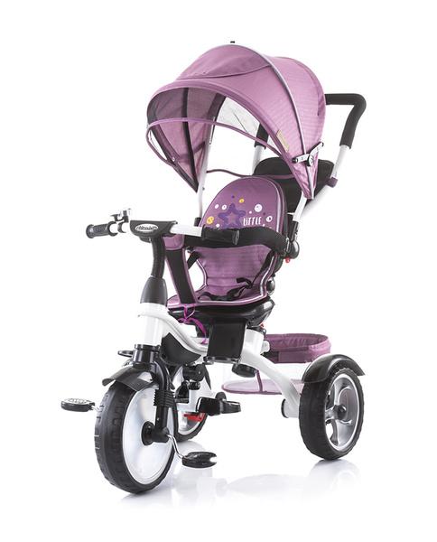 Chipolino Rapido szülőkormányos tricikli kupolával - Rose pink 2019