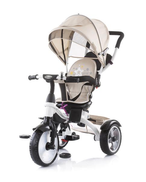 Chipolino Rapido szülőkormányos tricikli kupolával - Caramel 2019
