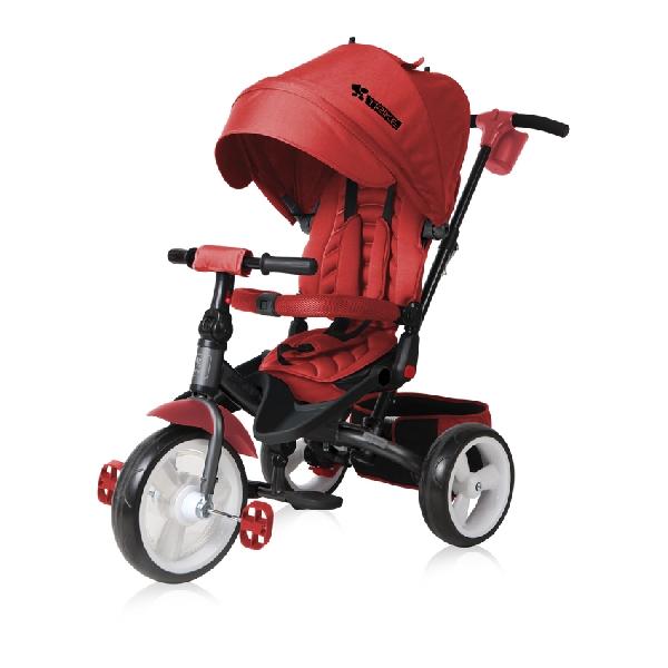 Lorelli Jaguar EVA szülőkormányos tricikli Red  Forgatható, dönthető üléspozícióval