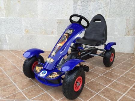 PEDÁLOS AIR GOKART BLUE PUMPÁS GUMI KERÉKKEL 50 KG-IG