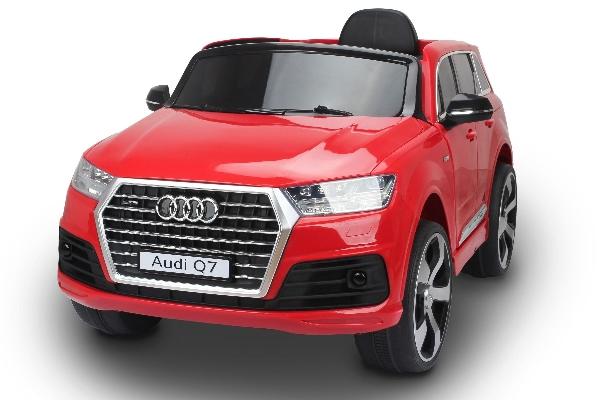AUDI Q7 EXCLUZÍV  elektromos kisautó gumi kerekekkel, RED nyitható ajtókkal, lassú és gyors fokozattal, 2.4 GHZ távirányítóval