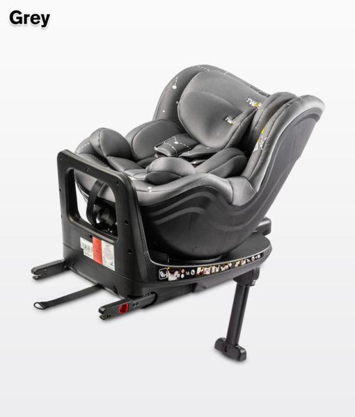 CARETERO TWISTY  I-Size ISOFIX Biztonsági Gyerekülés 0-18kg GREY