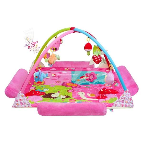 PlayTo Luxus  pink zenélő játszószőnyeg állatka