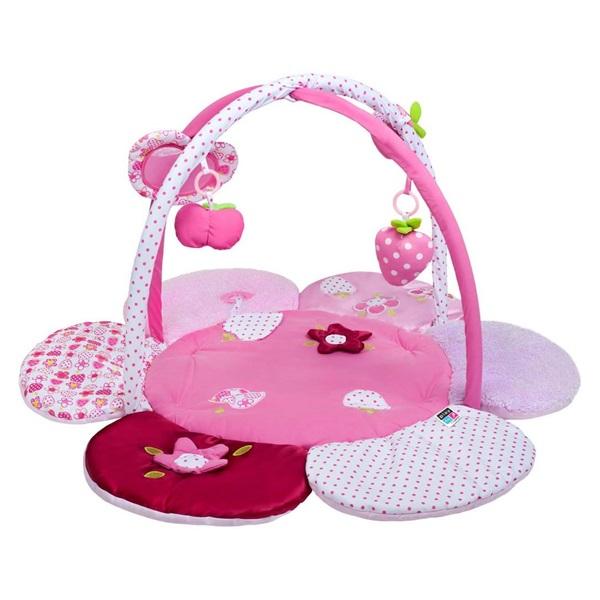PlayTo játszószőnyeg pink virágos